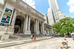 The New York Public Library Stock Image