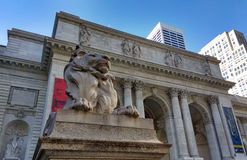 New York Public Library Main Branch, Stephen A. Schwarzman Building, Library Lion Patience, New York City, NY, USA Stock Photography