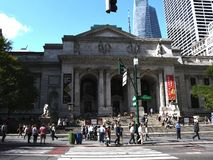 New York Public Library. On 5th Avenue and 42nd Street street in New York City. It is the 2nd largest public library in US and managed with both private and royalty free stock photography