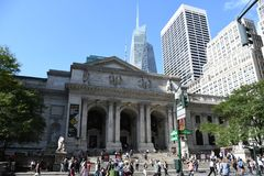 New York Public Library. On 5th Avenue and 42nd Street street in New York City. It is the 2nd largest public library in US and managed with both private and stock images
