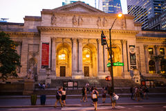 New York Public Library Stock Image