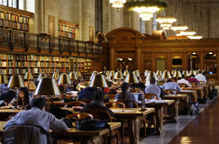 New York Public Library Reading Room.  Stock Images