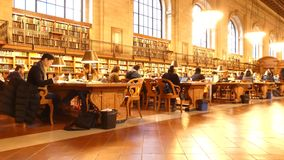 New York Public Library. The Rose Main Reading Room, at the New York Public Library stock video