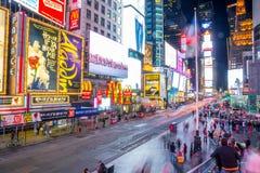 New York quadrata U.S.A. dei tempi Fotografia Stock Libera da Diritti