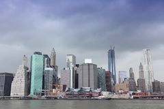 New York rain clouds Royalty Free Stock Photos