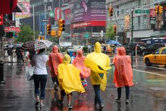 New York rain stock photos