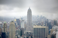 New York at a rainy day Royalty Free Stock Image