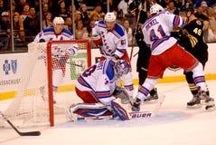 New York Rangers defense (National Hockey League) Stock Photography