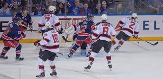 New York Rangers and New Jersey Devils Hockey Stock Photo