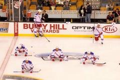New York Rangers pregame warm up Stock Photo