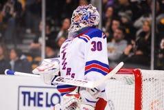 New York Rangers Superstar Goalie Henrik Lundqvist.  royalty free stock photography