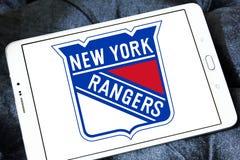 New York Rangers zamraża drużyna hokejowa loga Obraz Stock