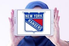 New York Rangers zamraża drużyna hokejowa loga Zdjęcia Royalty Free