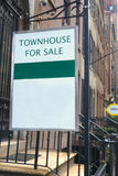 New York Real Estate For Sale. Two signs of real estate for sale on a Manhattan street Stock Photos