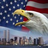 New York - recorde 9 11 - patriotismo Fotografia de Stock