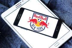 New York Red Bulls Soccer Club logo. Logo of New York Red Bulls Soccer Club on samsung mobile. New York Red Bulls are an American professional soccer club Royalty Free Stock Photos