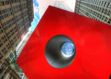 New York Red Square Artwork. Taken in 2015 Royalty Free Stock Photography