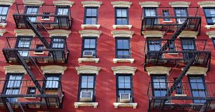 New York red & withe front Royalty Free Stock Photo