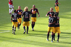 New York Redbull celebrates in Emirates Cup '11 royalty free stock photography