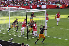 New York Redbull scores in Emirates Cup '11 stock photo