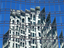 New York Reflections. New York Window Reflections stock photo