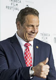 New York regulator Andrew Cuomo royaltyfri bild