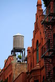 New york roof tops. View of new york  rooftop with a water cistern Royalty Free Stock Photography