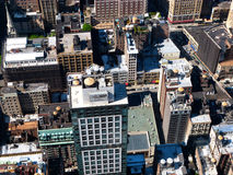 New York roof tops. As seen from a skyscraper on a sunny day Royalty Free Stock Photography