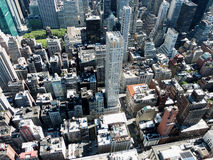 New York roof tops. As seen from a skyscraper on a sunny day Stock Photo