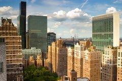 New York Rooftops Arkivfoton