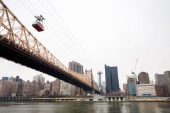 New York from Roosevelt island Royalty Free Stock Photos