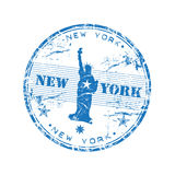 New York rubber stamp stock illustration