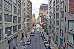 New York's West Side. Viewed from highline park in manhattan Stock Image