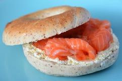 New York Salmon bagel Stock Photo