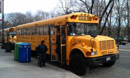 New York school bus Stock Photos