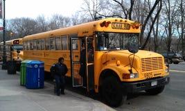New York school bus Stock Photos