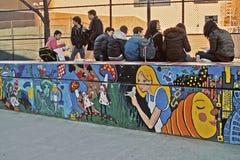 New York School Lunch Break USA Stock Photo