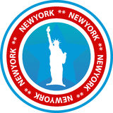 New York seal or button Stock Image