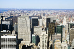 New York Seen from above Royalty Free Stock Photo