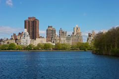 New York seen from Central Park. New York skyline, seen from Central Park Stock Image