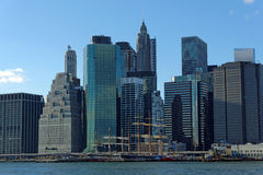 New York. Seen from the east river stock image