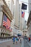 De Beurs van New York Op Wall Street Stock Foto's