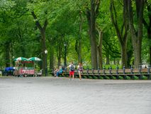 The Mall in Central Park. New York - Sep 2017: The Mall in Central Park in Manhattan, New York City, USA Royalty Free Stock Photo