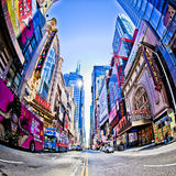 New York. SEPT 22: Times Square and 42nd Street is a busy tourist intersection of neon art and commerce and is an iconic street of  City and America Royalty Free Stock Photo