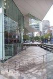 New York 12 september 2015: främre fasad av den Juilliard skolan på Royaltyfri Bild