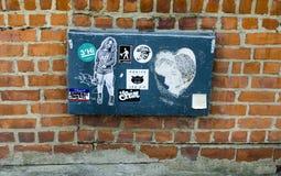 New York - September 18, 2016: Grafittiväggmålningar på gatorna av Arkivbilder