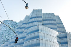 Moderne Architektur in New York - IAC-Hauptsitze lizenzfreie stockfotos