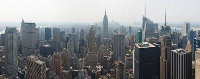 Manhattan-Panorama Lizenzfreie Stockfotos