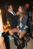NEW YORK - SEPTEMBER 09: Model Alessandra Ambrosio getting ready with makeup backstage Royalty Free Stock Image