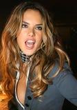 NEW YORK - SEPTEMBER 09: Model Alessandra Ambrosio poses backstage Stock Photography